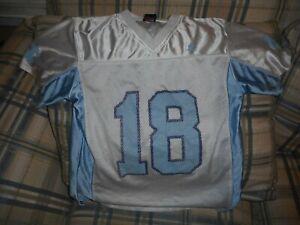 UNC North Carolina Tar Heels white football youth jersey #18 sz 12/14 - DSCN1800