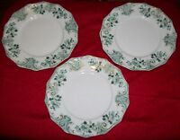 """Lot of 3 Milton by Grindley Green Roses Scrolls Plates # 292397, 8 3/4""""D"""