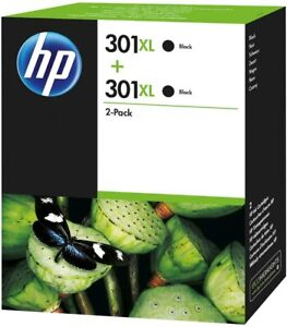 Genuine HP 301XL Black High Capacity Ink Cartridge Twin Pack | FREE 🚚 DELIVERY