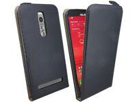 Handy Tasche Hülle Schutz Zubehör Schwarz für ASUS Zenfone 2 DELUXE ZE551ML@cofi