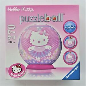 Ravensburger Hello Kitty Puzzleball 270 Plastic Pieces 2012 Pre-Owned Complete