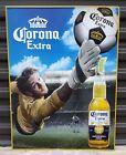 "Tin sign Corona Extra Beer Soccer Stadium 24""x18"" gently used"