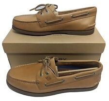 Sperry A/O Sahara Mens US 9 UK 8 Brown 2 Eye Boat Shoes Casual Flat Moccasin 42
