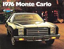 1976 76 Chevrolet Monte Carlo original brochure MINT
