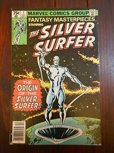 FANTASY MASTERPIECES #1 1979 reprinting Silver Surfer #1 Newsstand Copy VF+ 8.5!