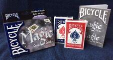 2 DECKS Ohio-made Bicycle Magic playing card set with 20 tricks FREE USA SHIP!