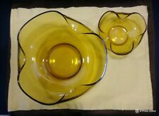 Anchor Hocking Chips & Dip Curved Edge Glass Bowls without stand