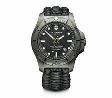 Victorinox INOX Pro Diver Black Dial Paracord Style Men's Titanium Watch 241812