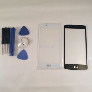 Outer Front Screen Glass Panel Lens Replacement for LG K8 K350N  W/OCA