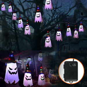 Halloween Ghost String Light Fairy Lights Witch Hats LED Yard Party Decorative