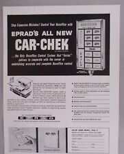 Erpad Drive-In Movie Theater Car-Chek PRINT AD - 1964 ~~ patron's pay indicator