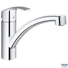 GROHE 33281 002 Eurosmart Monobloc Kitchen Sink Mixer, Low Spout, Chrome