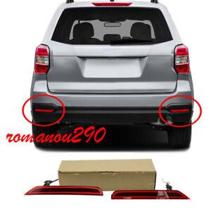 For Subaru Forester 2009 2018 LED Rear Bumper Fog Lights/ Brake warning Lights