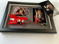 BILLY GIBBONS  'ZZ TOP'  In-person  signed Miniatur-Gitarre Autogramm + Foto