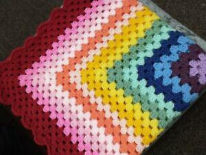 New Handmade crochet baby blanket.