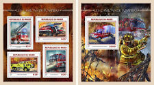 Fire Engines Rescue Transport Niger MNH stamp set