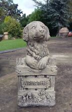 STONE GARDEN CUTE WELCOME DOG SIGN ORNAMENT