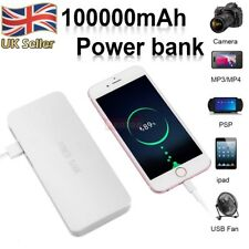 External Power Bank Pack 100000mAh 3USB Battery Fast Charger For Mobile Phone