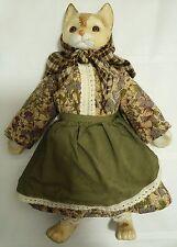 Vintage Musical Porcelain Cat Doll Music Box Wind Up