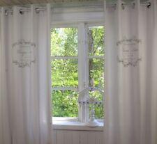Vorhang ELEGANCE Hell Grau ÖSEN Gardine 2 Stück 120x240 Französisches Landhaus