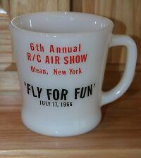 Vintage Advertising Fire King Mug 1966 R/C Air Show Olean, NY