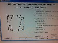 Yamaha YZ125 Cylinder Base Gasket 1986 1987 1988 1989 1990 1991