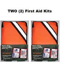 (2) TWO 205 Piece Outdoor First Aid Kits hiking camping marine home auto boating