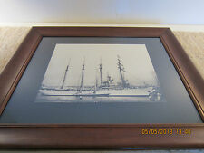 Nautical Decor, Framed Photo Of 4 Masted Ship