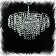 CRYSTAL Glass CHANDELIER chandlier Chandalier CEILING LIGHT lamp CHROME Moss40C