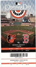 2014 ORIOLES VS BOSTON RED SOX OPENING DAY GIANT TICKET STUB UNUSED 3/31/14