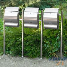 Trois boîtes aux lettres 3er acier inox boîte aux lettres Emo