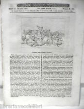 ANTICA STAMPA INCISIONE 1844 Riccardo Cuor di Leone Saladino Costantinopoli di