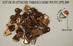 LOT DE 50 ATTACHE ACCROCHE TABLEAU CADRE PHOTO COULEUR BRONZE ANTIQUE 21*13 MM