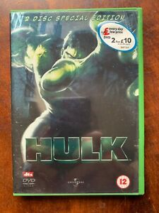 Hulk DVD 2003 Incredible Marvel Universe Movie w/ Eric Bana 2- Disc Special Ed