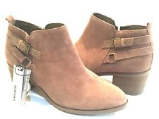 Sonoma Sonya Leather Suede Taupe Zip Ankle Bootie Shoe 10M