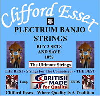 CLIFFORD ESSEX PLECTRUM BANJO STRINGS. MEDIUM. WOUND 3RD & 4TH. MADE IN BRITAIN.