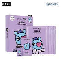 BTS Official BT21 MANG Mediheal Face Point Mask Sheet 4pcs Bookmark Postcard