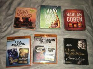 Audio Book Lot, 6  Lisa Jackson MP3, Nora Roberts CD's