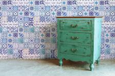 Walplus Tile Sticker English Quote Vintage Blue Wall Sticker Decal (Size: 20cm