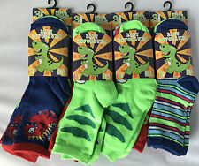 12 Pairs Kids Boys Cotton Socks School Summer Trainer Ankle Socks Sea Life Space 6-8 B10729