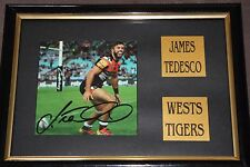 JAMES TEDESCO~*~Signed & Framed~*~WESTS TIGERS + COA