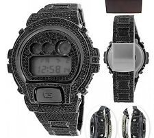 Casio G Shock DW6900 Icedout Digital Watch with Real Black CZ
