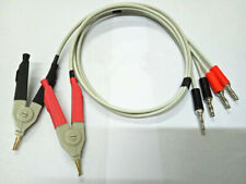 New Test Clip Lead Kelvin Clip For Lcr Meter With 4 Banana Plug Connectors Smd