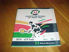 1993 Abierto Mexicano De Tenis Tennis Program