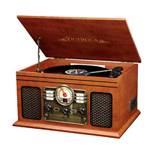 Retro Vintage Wireless Turntable Radio CD Cassette MP3 Record Player Bluetooth