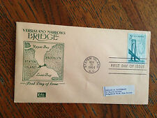 U.S.P.O. NOVEMBER 21 1964 1ST DAY OF ISSUE VERRAZANO NARROWS BRIDGE