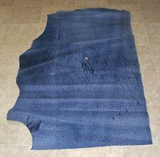(LFE10537) Hide of Medium Blue Printed Cow Leather Hide Skin