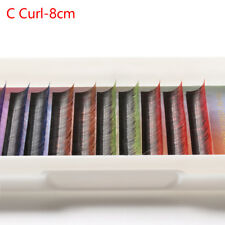 12 Rows Soft Silk Synthetic Individual Colorful False Eyelashes Festival Style