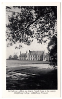 Vintage Postcard Middlebury College Middlebury Vermont Le Chateau  I-4