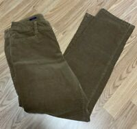 Talbots Womens Corduroy Pants Sz 8 Tan Brown Curvy Straight Leg Mid Rise UL2